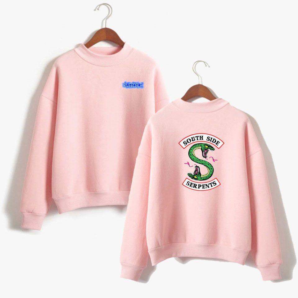 BTS Riverdale Pink Women and men Hoodies Sweatshirts Fashion Hooded Long Sleeve Sweatshirt Casual Clothing south side serpents