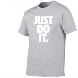Funny brand t shirt men 2018 new Fashion Just Do It Letter Printed Fashionable Round Neck man's T-shirt short sleeve tshirt Tops