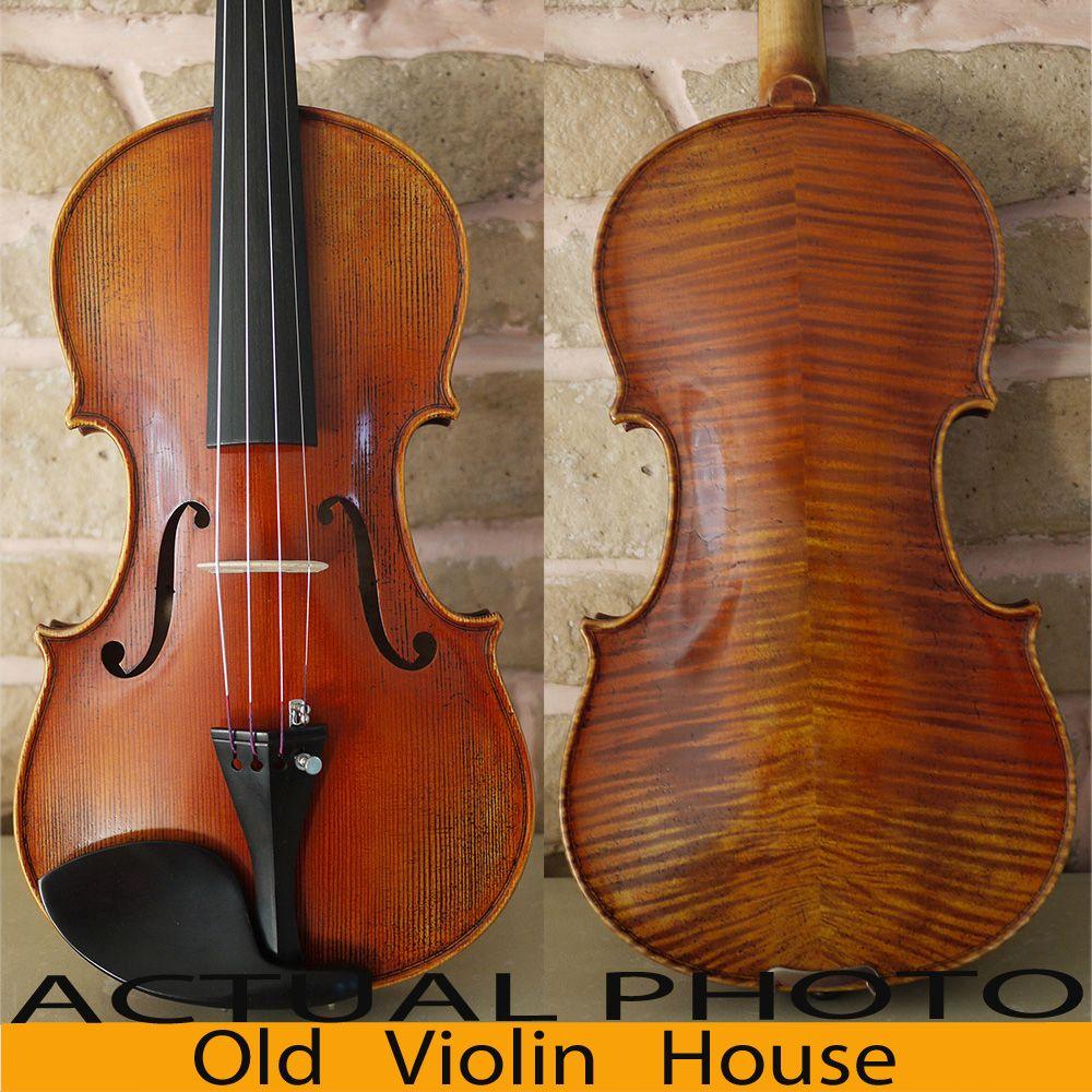 Karpaten Fichte Antonio Stradivaris 1714 Boden Violine, Aubert Brücke, Antike lack, No. 2867