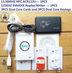 NFC ACR122U 13.56MHZ RFID CARD and 125KHZ ID Card Reader & Writer programmer crack clone M1 EM4100 Rfid Card uid changable t5577