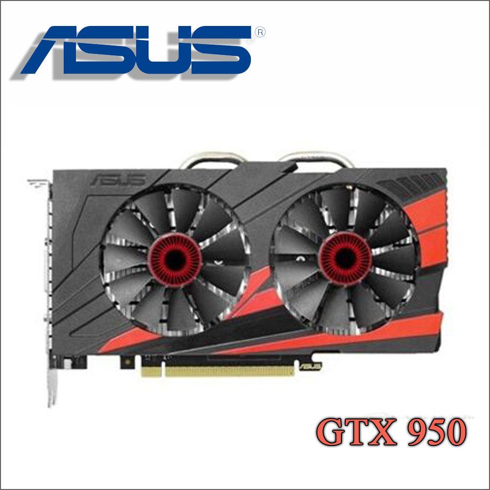 original used ASUS PC Graphics Card Original GTX 950 2GB 128Bit GDDR5 Video Cards for nVIDIA VGA Cards Geforce GTX950 Hdmi Dvi