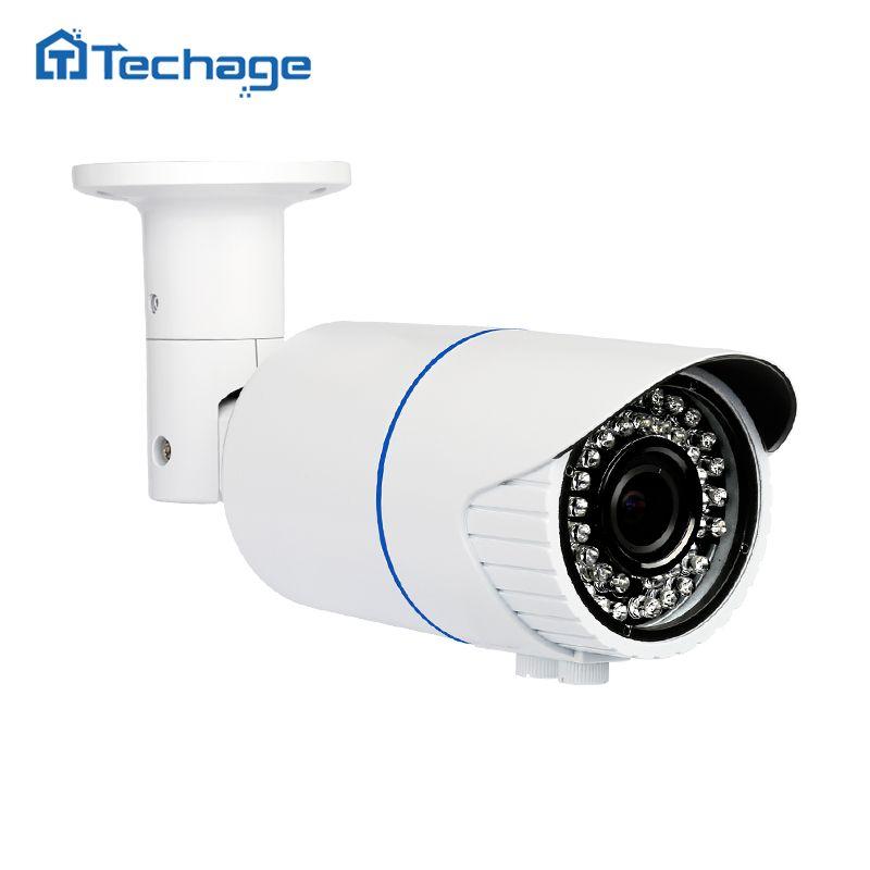 Techage H.265 4.0MP HD Security POE IP Camera Indoor Outdoor IR Onvif P2P 2.8-12mm Varifocal Zoom lens CCTV Surveillance Camera