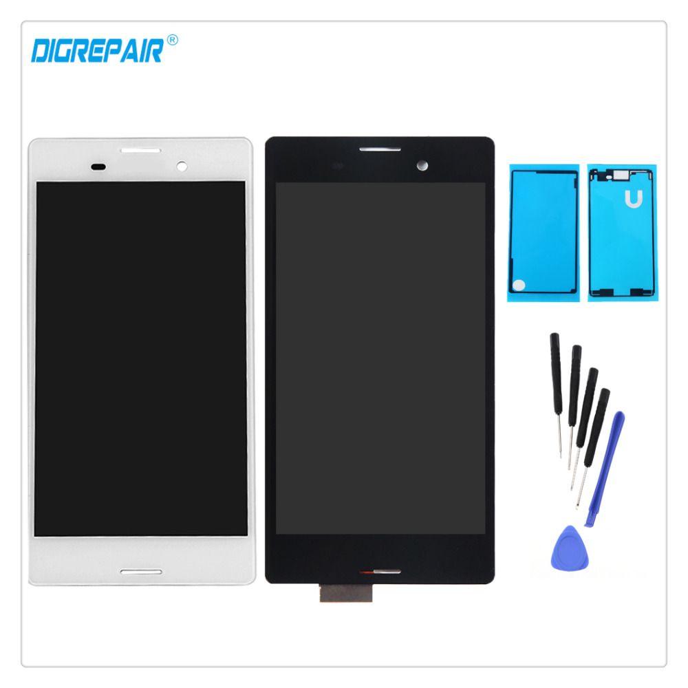 AAA Noir/Blanc Pour Sony Xperia M4 Aqua E2303 E2306 E2353 E2333 LCD Affichage Digitizer Pièces D'assemblage de L'écran Tactile + outils + Adhésif
