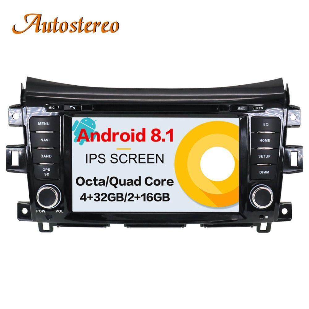 Car GPS Navigation DVD Player Radio pure Android 7.1 8.0 For NISSAN NP300 Navara 2014+ Stereo Headunit SatNav multimedia record