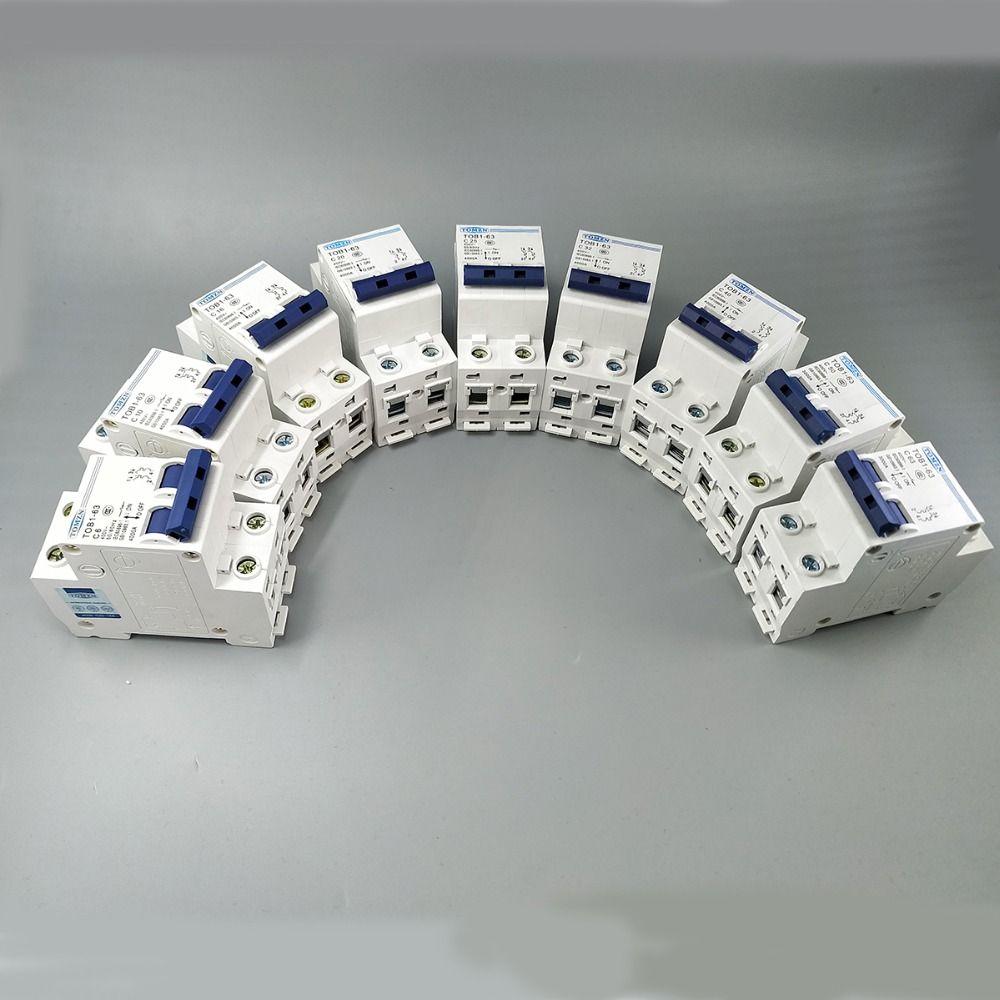 2 p AC MCB TOB1-63 C typ 230/400 v ~ 50 hz/60 hz Mini Circuit breaker 6A 10A 16A 20A 25A 32A 40A 50A 63A