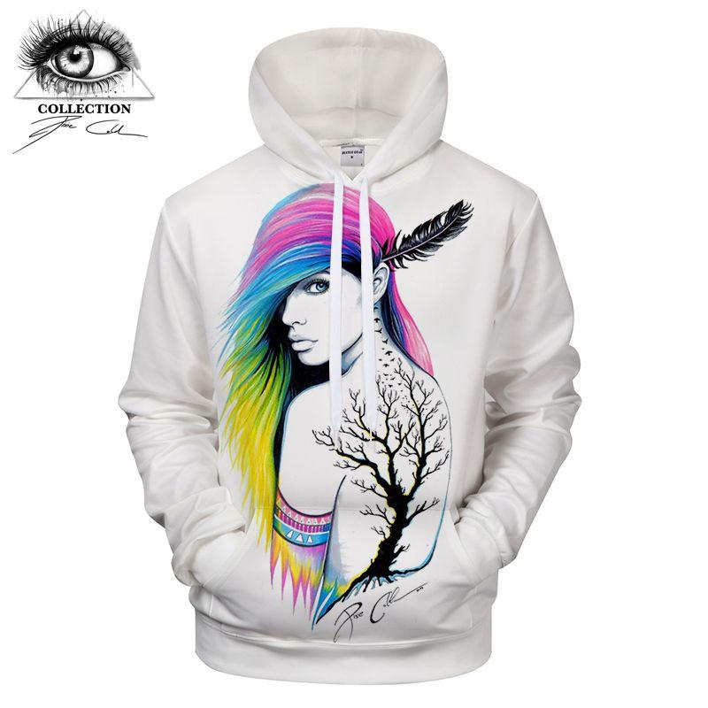 City Indian by Pixie cold Art Girl Printed 3D Hoodies Sweatshirts Men Casual Tracksuits Novelty Streetwear Hoodie ZOOTOP BEAR