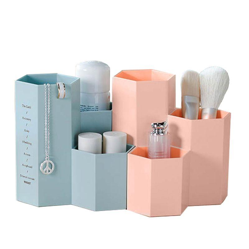 Organisateur de bureau boîte maquillage support cosmétique maquillage outils boîtes de rangement brosse trousse de papeterie bijoux présentoir Organization