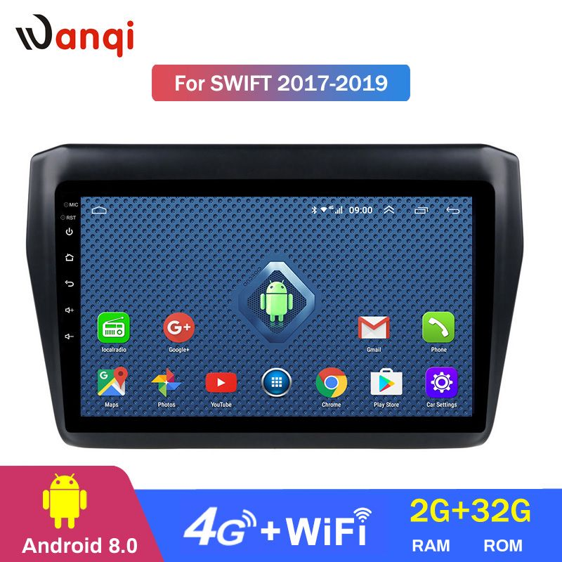4G Lte Alle Netcom Android 8.0 Für Suzuki Swift 2017 2018 2019 Auto DVD-Multimedia-Player GPS Navigation Stereo Radio BT WIFI
