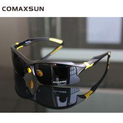 Comaxsun Profesional Terpolarisasi Bersepeda Kacamata Sepeda Kacamata Olahraga Sepeda Kacamata UV 400 STS016