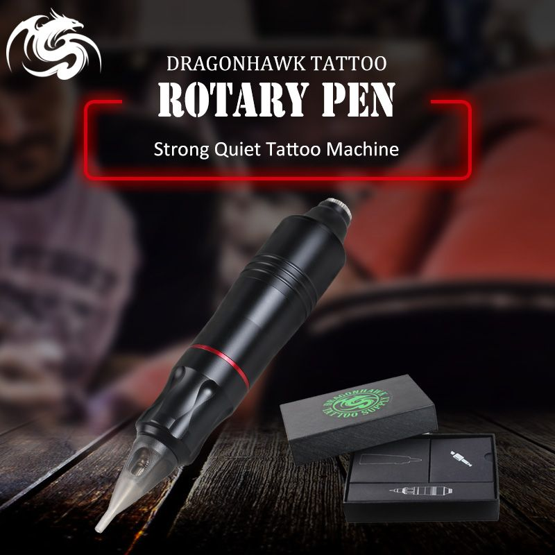 One pcs Tattoo Rotary Pen Hybrid Permanent Makeup Tattoo Machine Strong Quiet Motor Supply