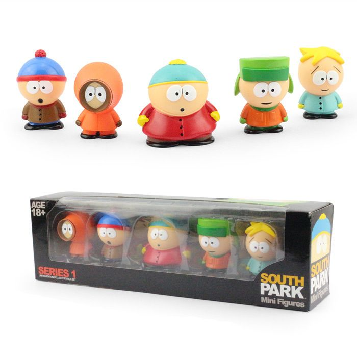 Anime South Park Stan Kyle Eric Kenny Leopard  6cm PVC Action Figure Collectible Model Toy Kids Gifts KT449