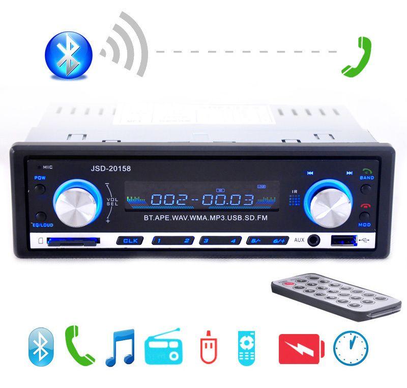 2017 Nouvelle 12 V De Voiture Stéréo FM Radio MP3 Audio Player Support Bluetooth Téléphone avec USB/SD MMC Port De L'électronique Embarquée Dans Tableau de Bord 1 DIN
