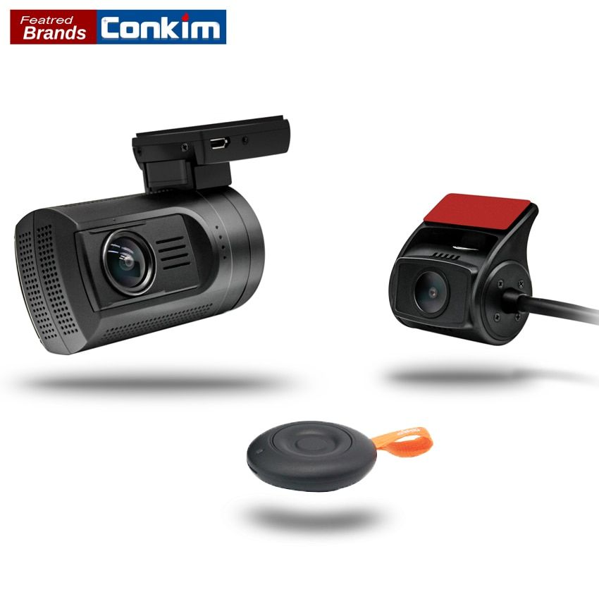 Conkim Car DVR With Two Camera GPS Car Video Recorder 1080P Full HD Novatek 96663 Dual Lens Hidden Dash Camera Mini 0906