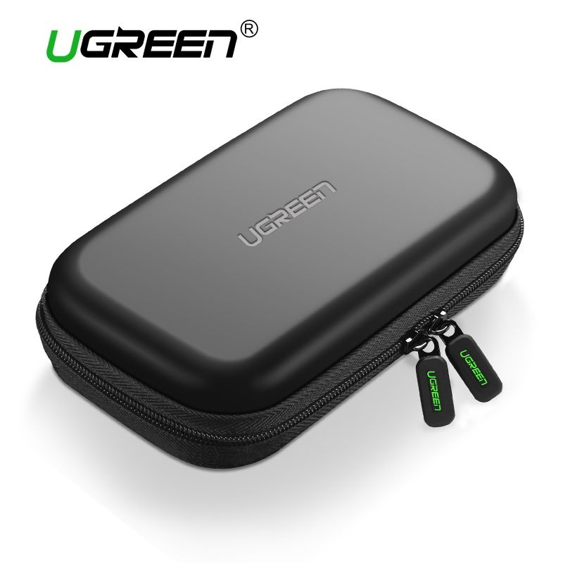 Ugreen External Storage Hard Case HDD SSD Bag for 2.5 Hard Drive Power Bank USB Cable Charger Power Bank Case