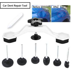 Fix Dent Repair Tool Kit 8pcs Instrument Paintless Auto Car Body Damage Pulling Bridge Removal Glue Tab Tool Hand Tool Set Newly