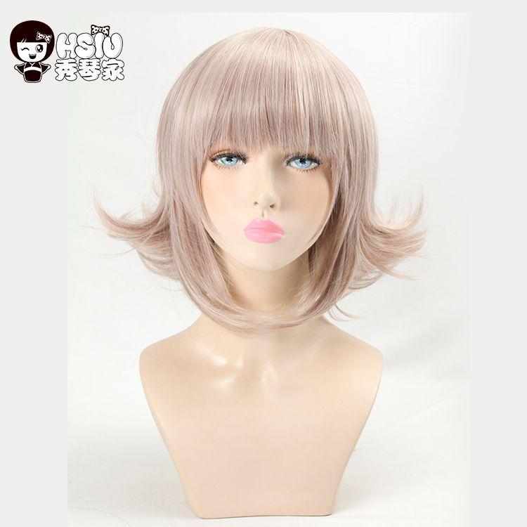 HSIU Super DanganRonpa Cosplay Perruque Chiaki Nanami Costume Play Femme Adulte Perruques Halloween Jeu D'anime Cheveux livraison gratuite
