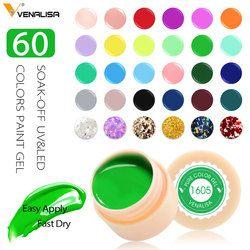 Venalisa УФ гель новый 2019 советы для дизайна ногтей маникюр 60 цветов УФ светодиодный Замачивание краска собственного приготовления гелевые чер...