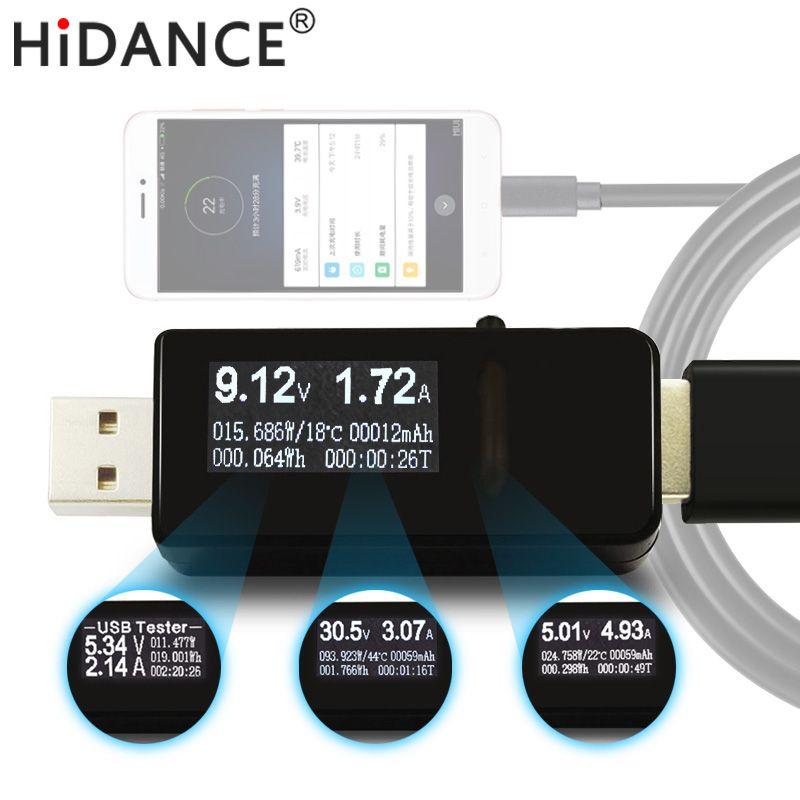 7 en 1 USB testeur DC Numérique voltmètre amperímetro tension courant indicateur amp volt ampèremètre détecteur de puissance banque chargeur indicateur