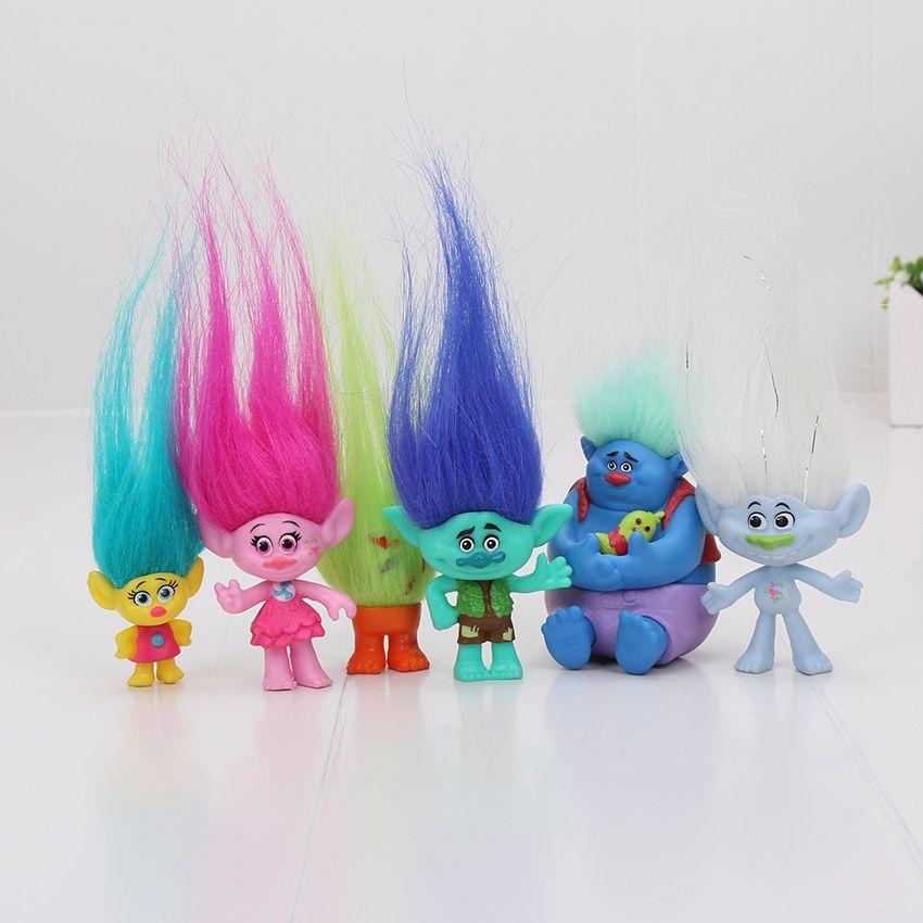 6Pcs/Set Trolls toys Action Toys Branch Critter Skitter Figures Trolls Children Action Figure Toy
