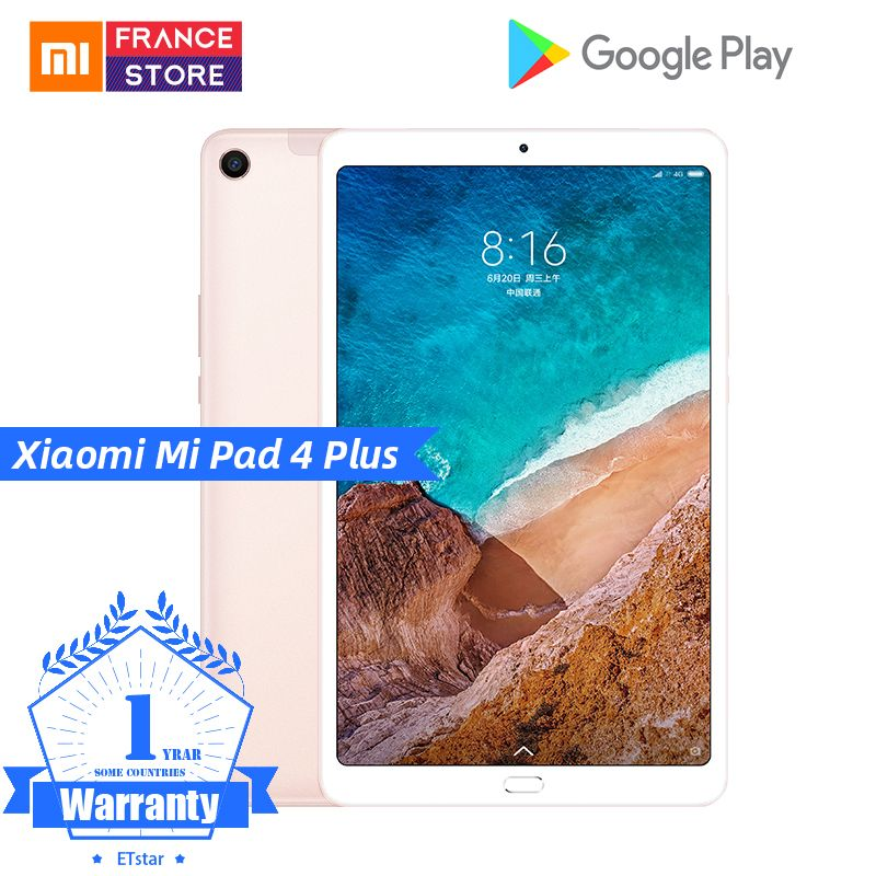 Tablette d'origine Xiao mi mi Pad 4 Plus PC 10.1 Snapdragon 660 Octa Core Face ID 1920x1200 13.0MP + 5.0MP 4G tablettes Android mi Pad 4