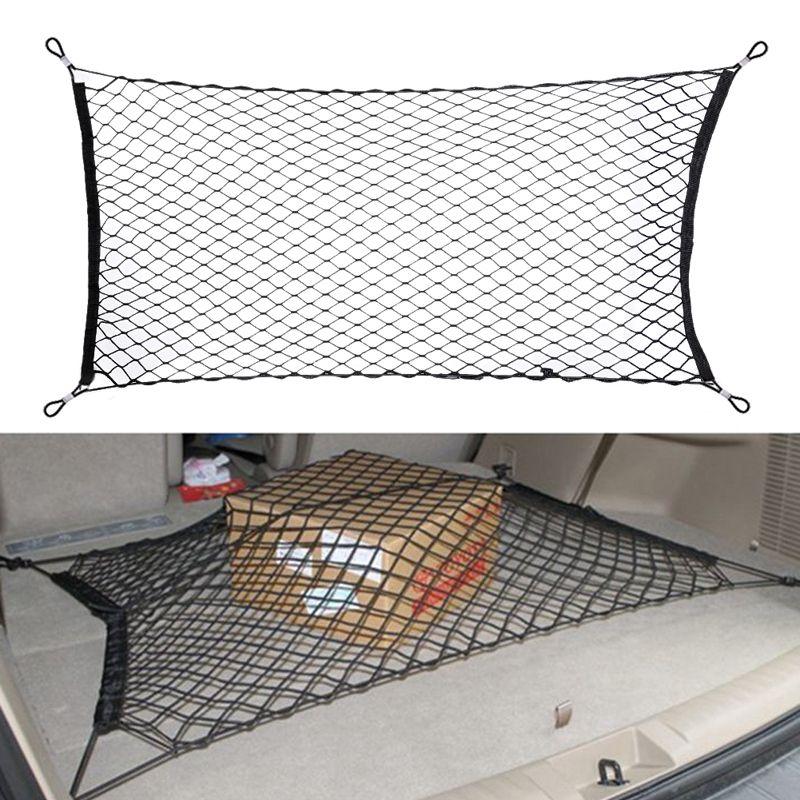 120x60 cm voiture style botte chaîne sac élastique en Nylon voiture arrière cargaison coffre rangement organisateur bagages Net titulaire Auto accessoires