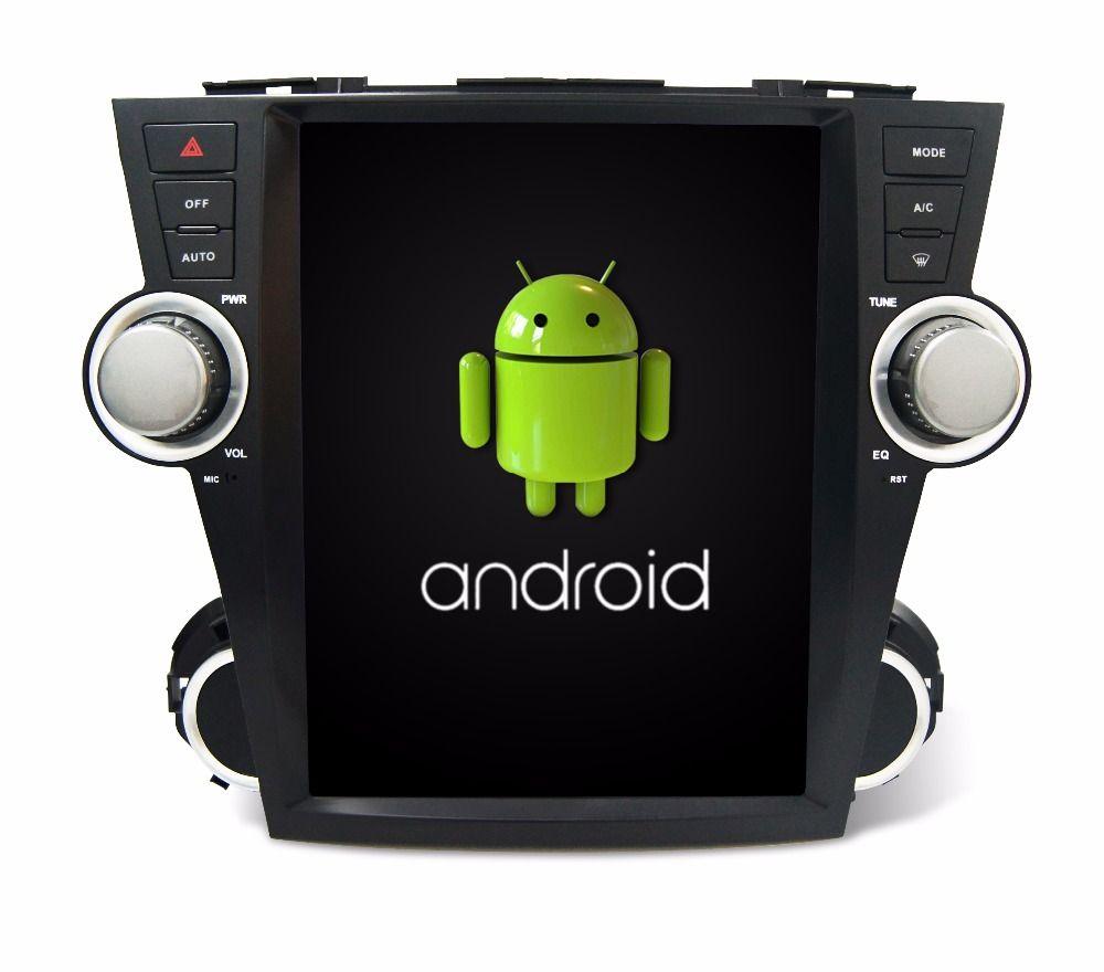 Otojeta vertikale bildschirm tesla quad core 32 gb ROM rockchip px3 android 7.1 Auto Multimedia-Player Radio für Toyota Highlander 2008