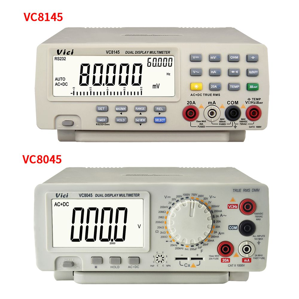VC8145 VC8045 Bench top Multimeter 1000V 20A Digital Multimeter Auto Range Multimetro Digital Voltmeter Ohm DCV/ACV/DCA/ACA