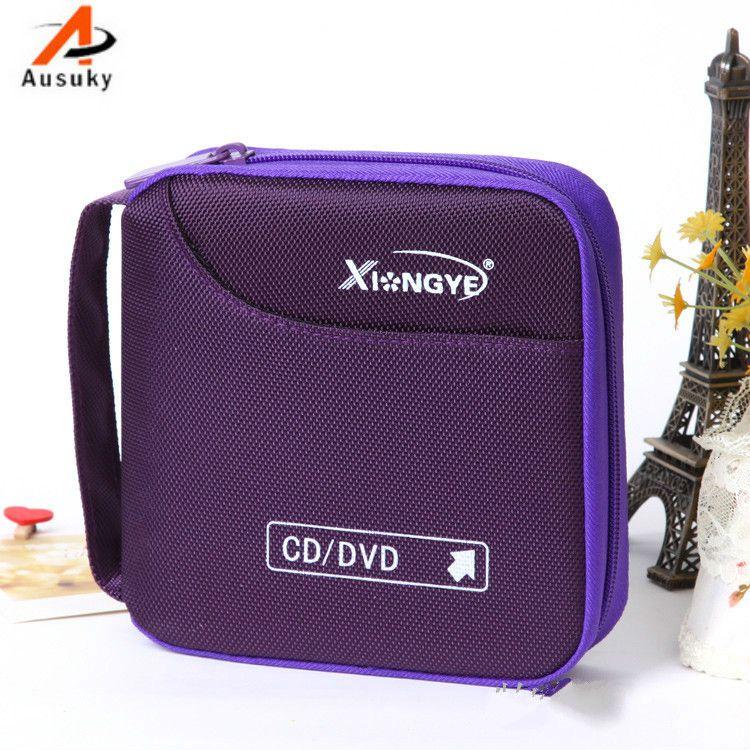 Un Ausuky variété de couleurs véhicule Portable 32 disque capacité DVD CD étui pour voiture médias stockage CD sac-15