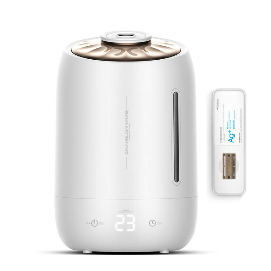 GRTCO 5L Touch Control Ultrasonic Air Humidifier Aroma Oil Diffuser Ionizer Generator Aromatherapy Ag+ Purifier Mist Maker