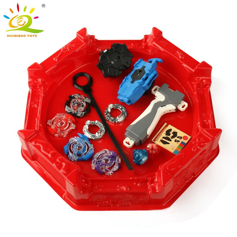 Hot 4pcs/set Beyblade Arena Spinning Top Metal Fight Beyblade Metal Fusion Beyblade Stadium Children Gifts Classic Toy For Child