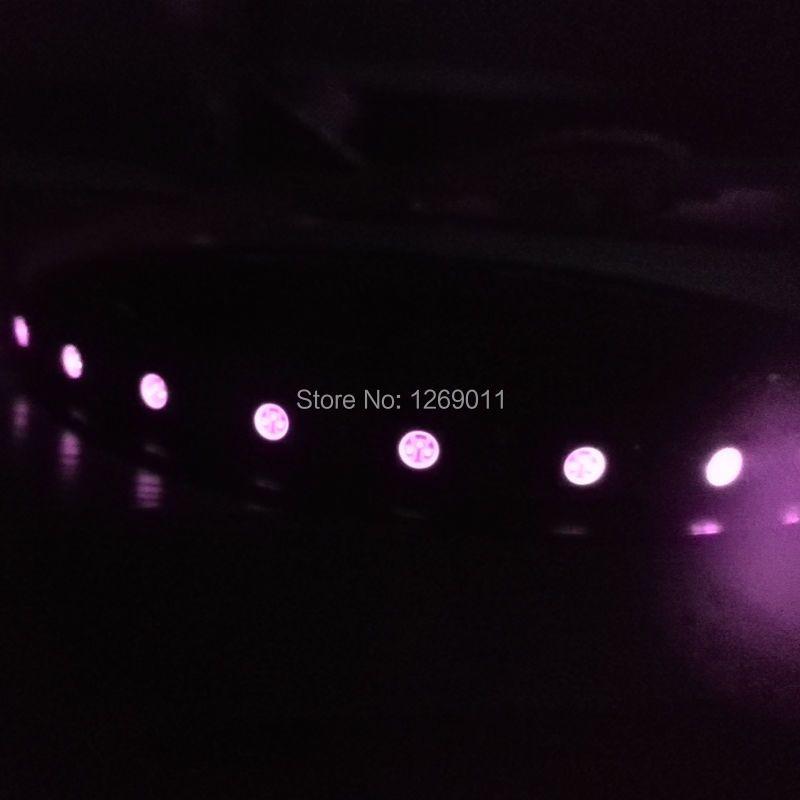 SMD5050 IR infrarouge 850nm 940nm ampoules LED Flexible 30 LED s par mètre ruban de LED avec fond noir
