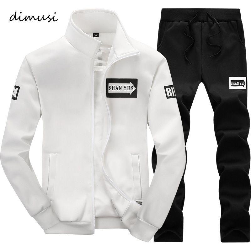 DIMUSI 2017 Men Sportwear Sets Tracksuit Male Outwear Sweatshirts Patchwork Men Hoodies Stand Collar Male Tracksuit 4XL,TA013