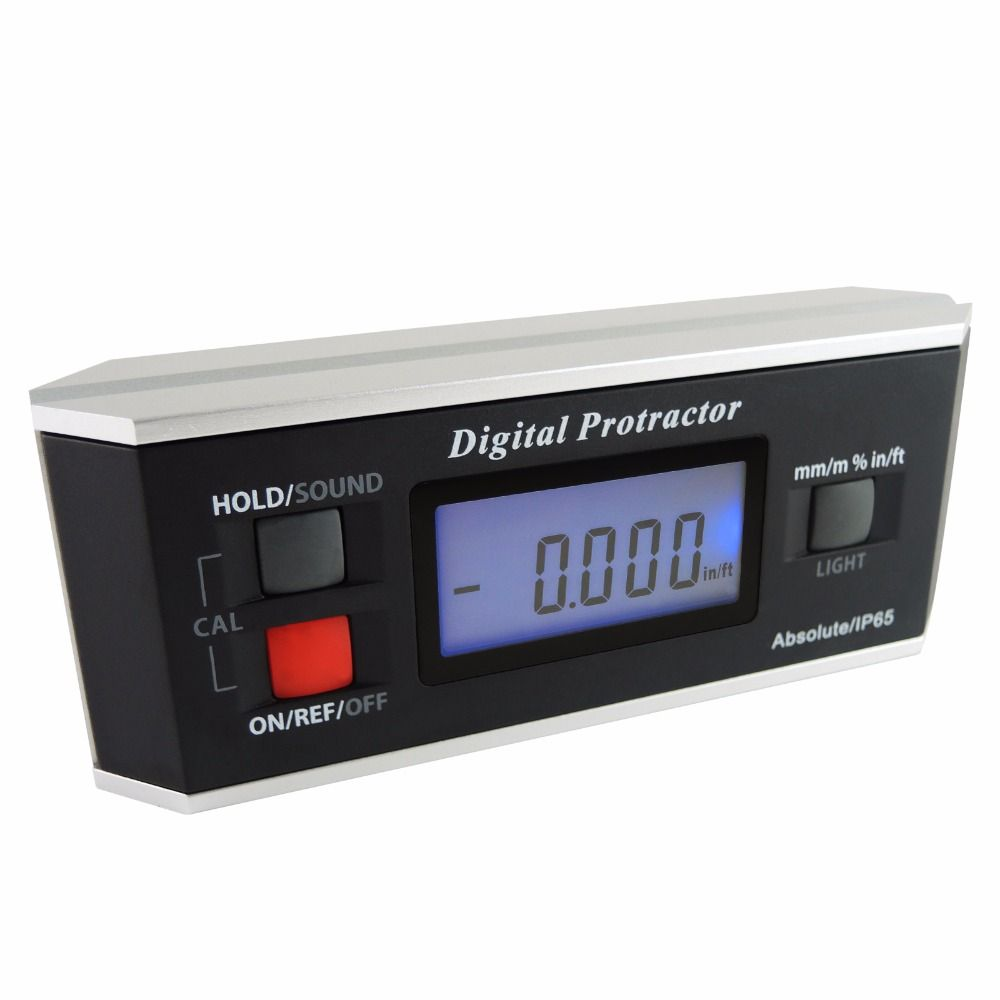 Angle Finder Level Digital Protractor Inclinometer Magnetic V-Groove 0~360 degree with Backlight Industrial Automotive Use