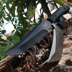 Taktische Messer Fixed Blade Überlebensmesser Rettungsgeräte Jagdmesser Korrosionsbeständigkeit Jagd Combat Outdoor-Tool