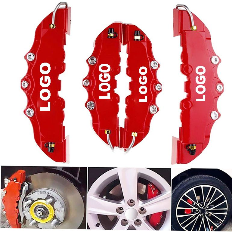 4PCS/2PCS Car Auto Disc Brake Caliper Cover With 3D Word Universal Kit Fit to 14-18 Inches Car Red Brake cover For Brembo