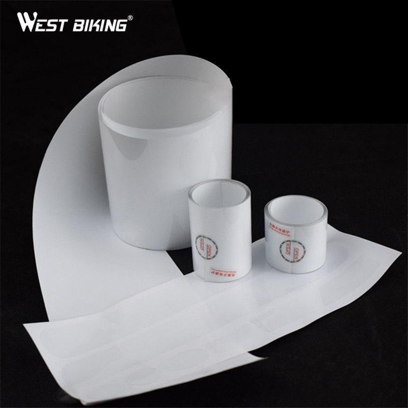WEST BIKING Bicycle Paint Protection Film Bike Frame Anti Scratch Membrane Transparent Scratch-resistant Film Cycle Protect Film