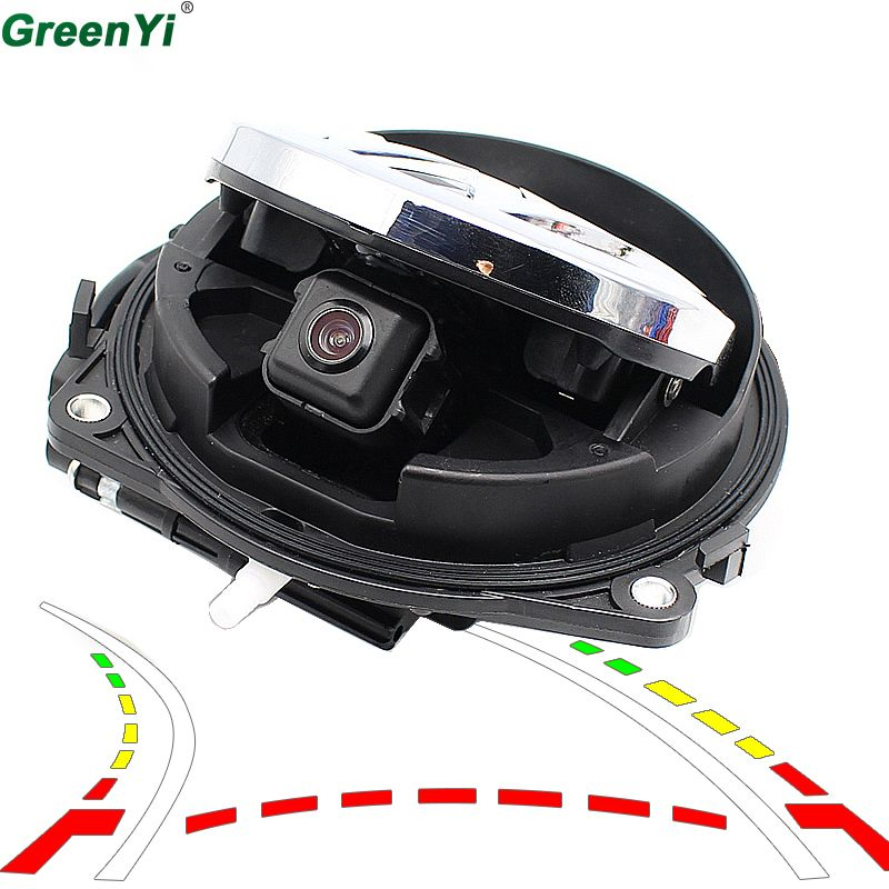 Intelligent Dynamic Trajectory Tracks Parking Line Smart Flip Trunk Handle Rear View Vehicle Camera For VW CC Golf 6 Passat B7