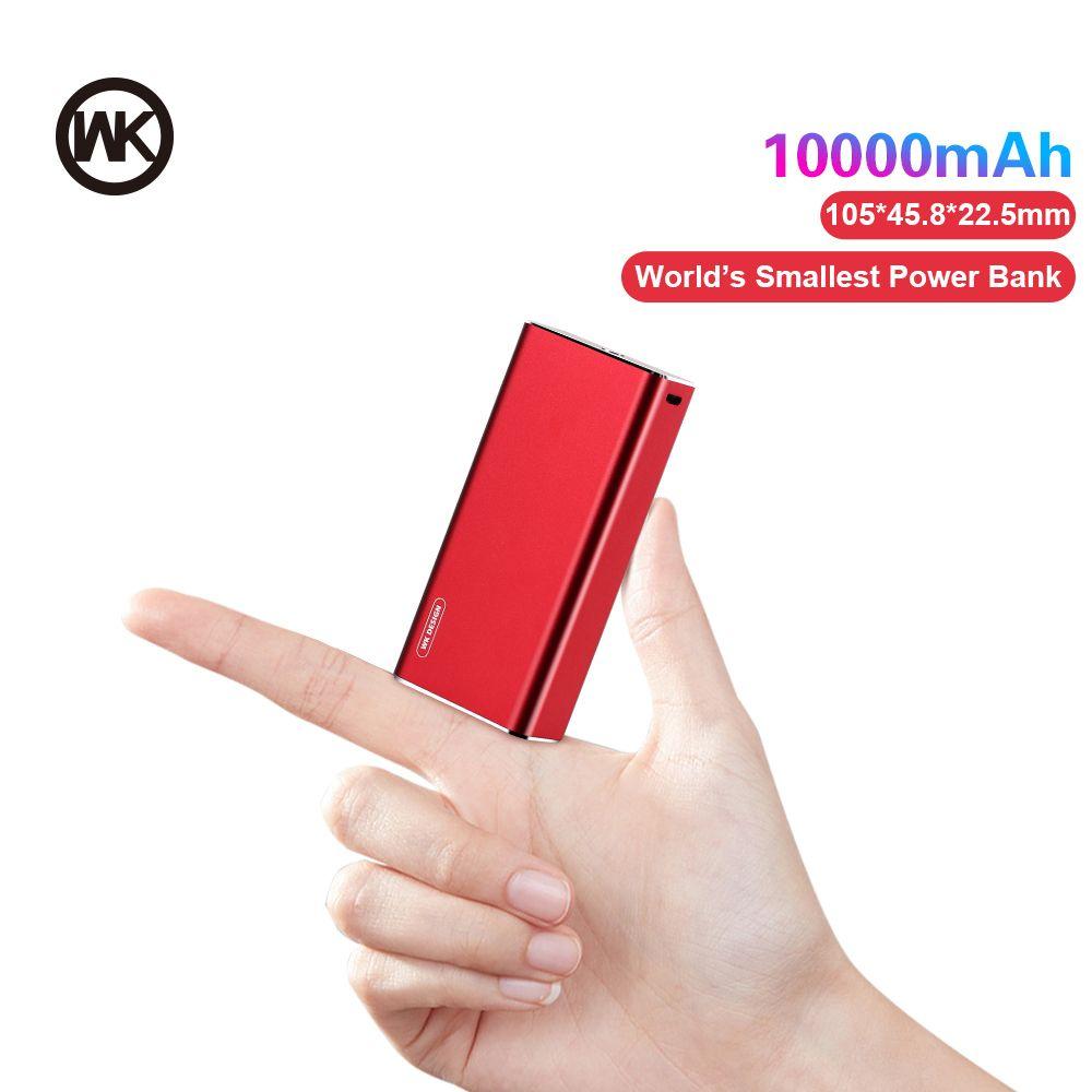 WK 10000mAh Mini Power Bank Portable Charger Fast Charging Powerbank for Xiaomi mi iPhone External Battery Poverbank Metal Shell