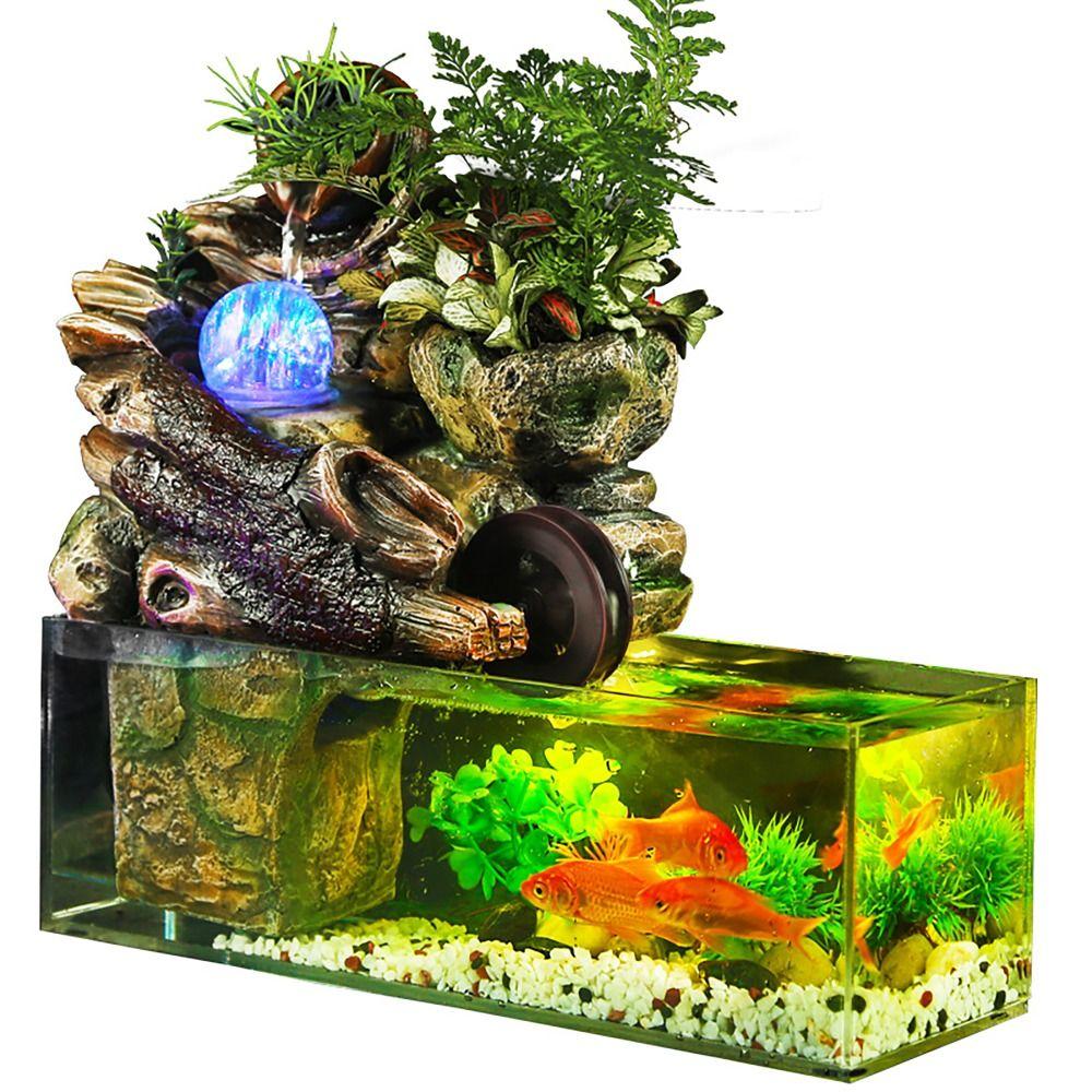 Aquarium aquarium künstliche landschaft steingarten wasser brunnen mit ball ornamente wohnzimmer desktop glück home bar dekoration