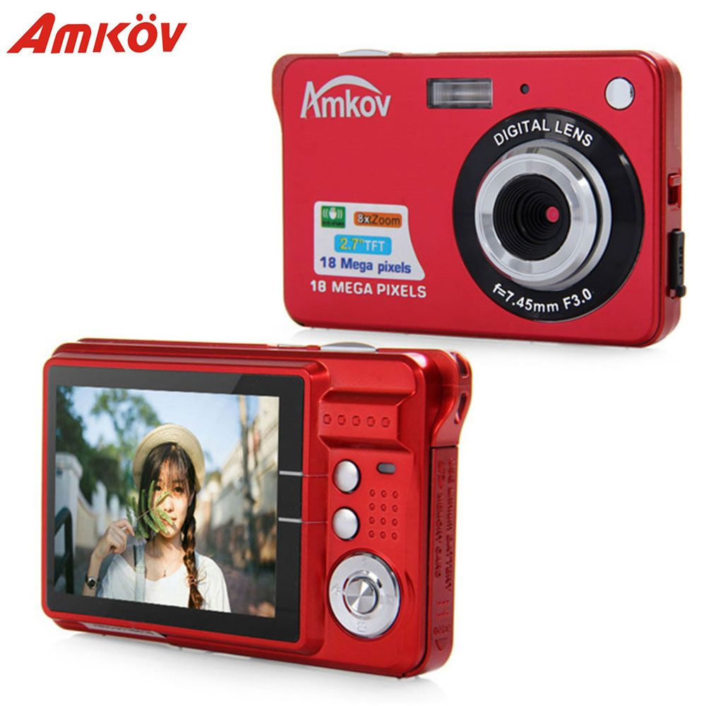 Original Amkov CDC3 2.7 Inch TFT Screen 1080P 18MP CMOS 3MP Anti-Shake Digital Video Camera Face Detection With 8X Digital Zoom