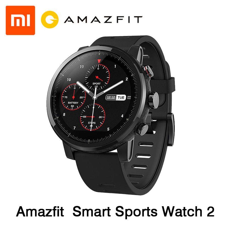 [Englisch Version] Xiaomi Huami Amazfit Stratos Smart Sport Uhr 2 GPS 5ATM Wasser 1,34 ''2.5D Bildschirm Firstbeat schwimmen Uhr