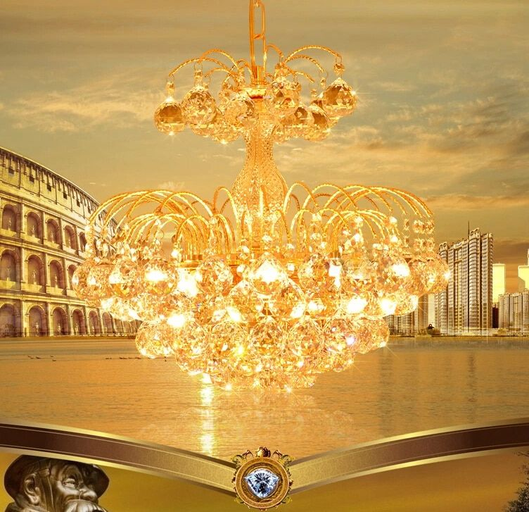 LED Chandelier Crystal Chandeliers Golden Luxury Chandeliers kronleuchter Modern E14 Ceiling Fixture Lights Home Hotel Deco