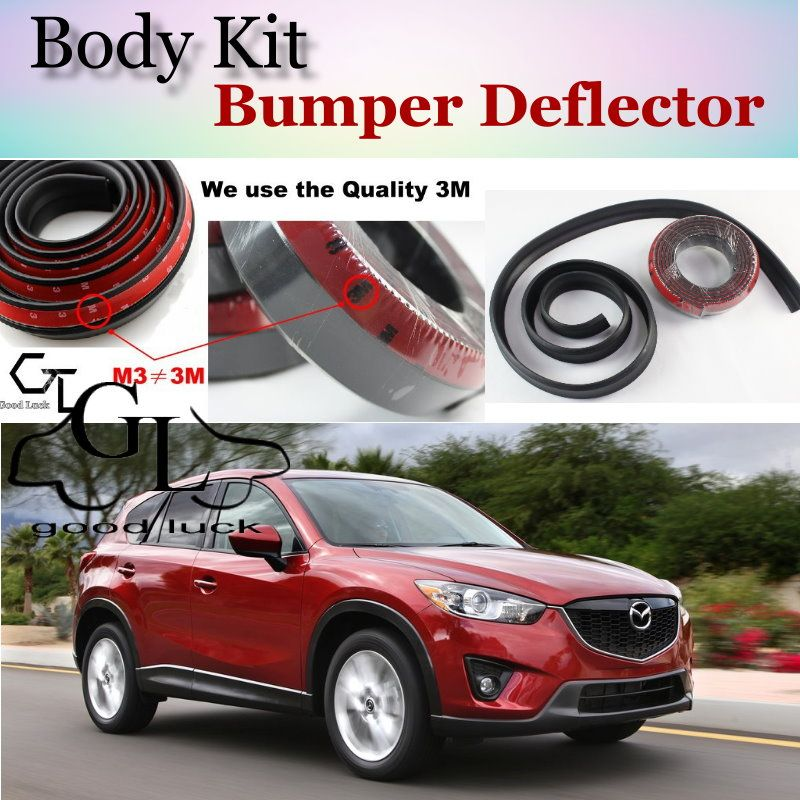 For Mazda CX5 CX-5 CX 5 2013 ~ 2017 Bumper Lip / Front Spoiler Deflector Car Scratch Proof Adhesive / Body Kit / Strip Skirt