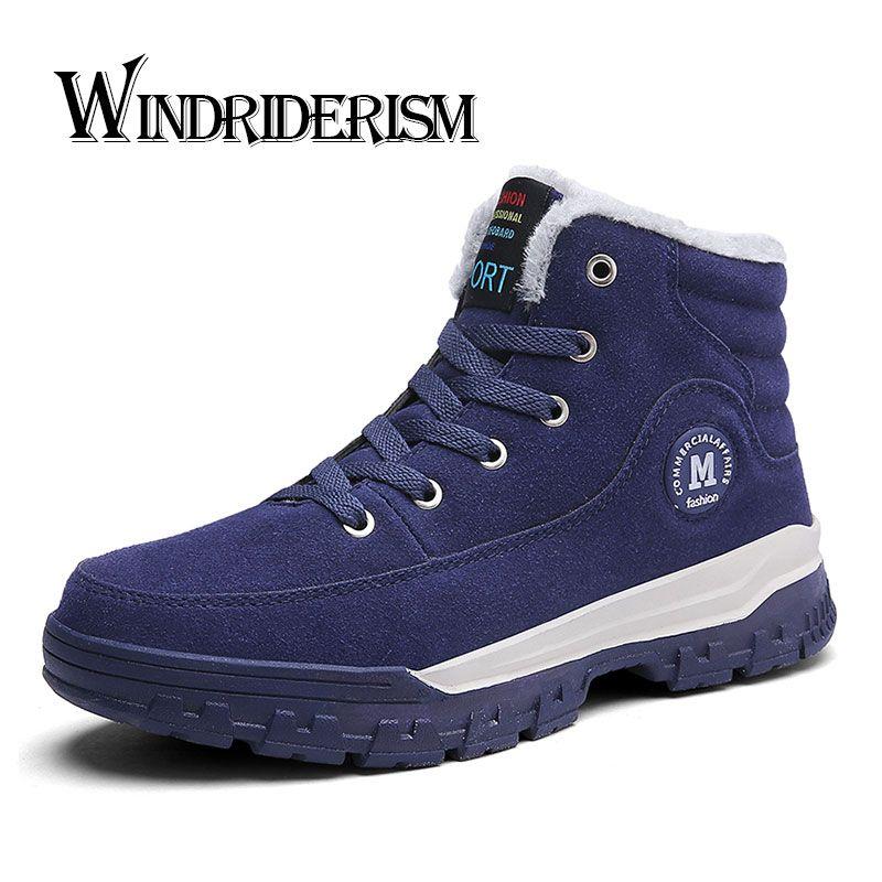 Windriderism Мужские ботинки новые Мода 2017 г. Зимние Теплые ботильоны Повседневное Стиль Мужская обувь увеличивающая рост на 4 см Botas De Hombre