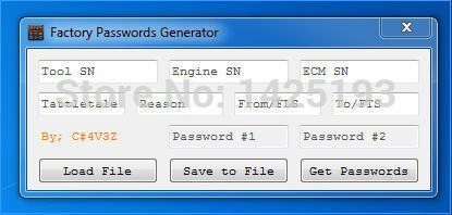 New ET FACTORY PASSWORDS GENERATOR [USB dongle]Support Windows 2003/XP/Vista/7/8/10 for cat