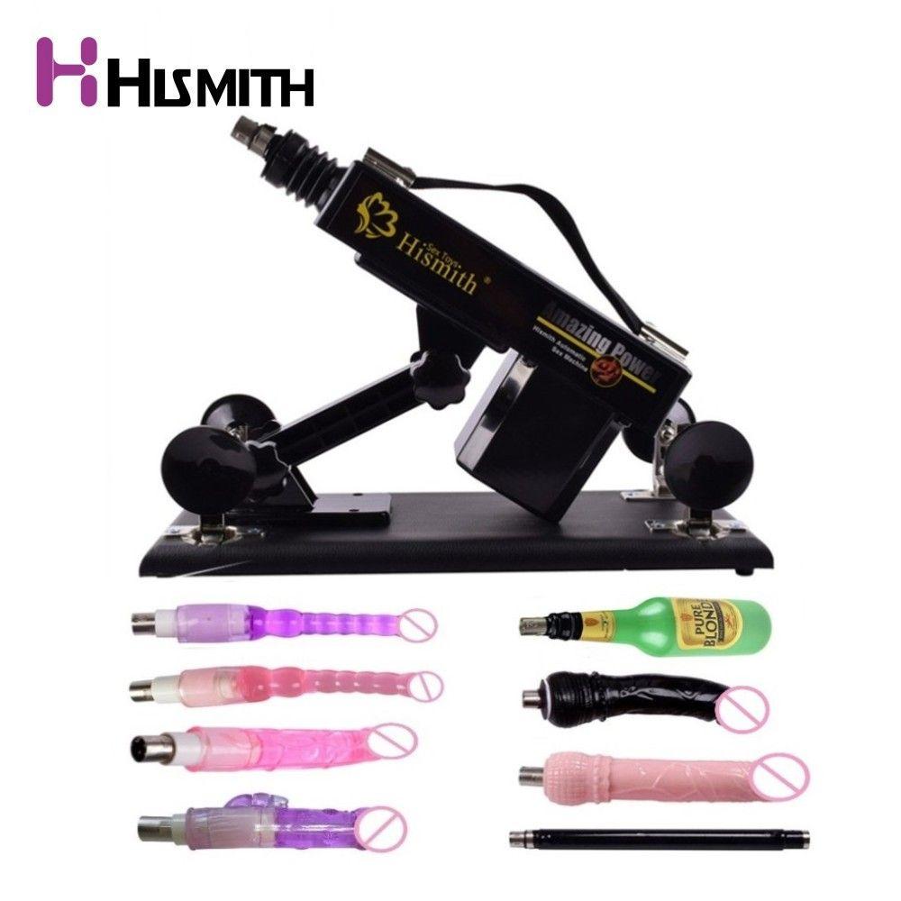 Hismith Automatic Sex Machine for men and women with 8PCS Attachments Adult Love Machine EU AU US UK Plug Secret Package