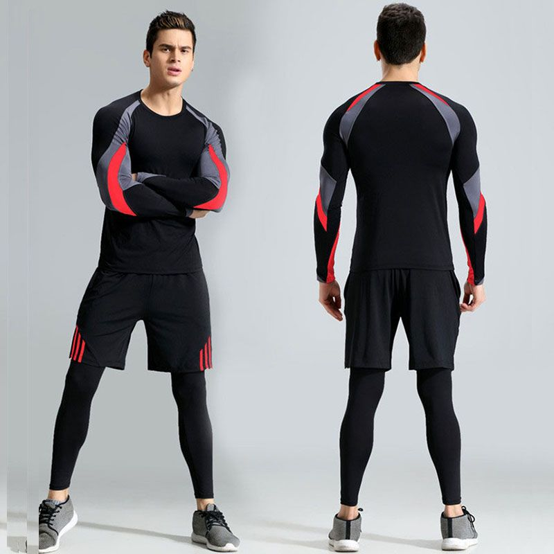 Men Workout Long Johns Pro Gymming Compression Fitness Winter Quick Dry Male Autumn Sporting Sets Runs Spring Thermal Underwear