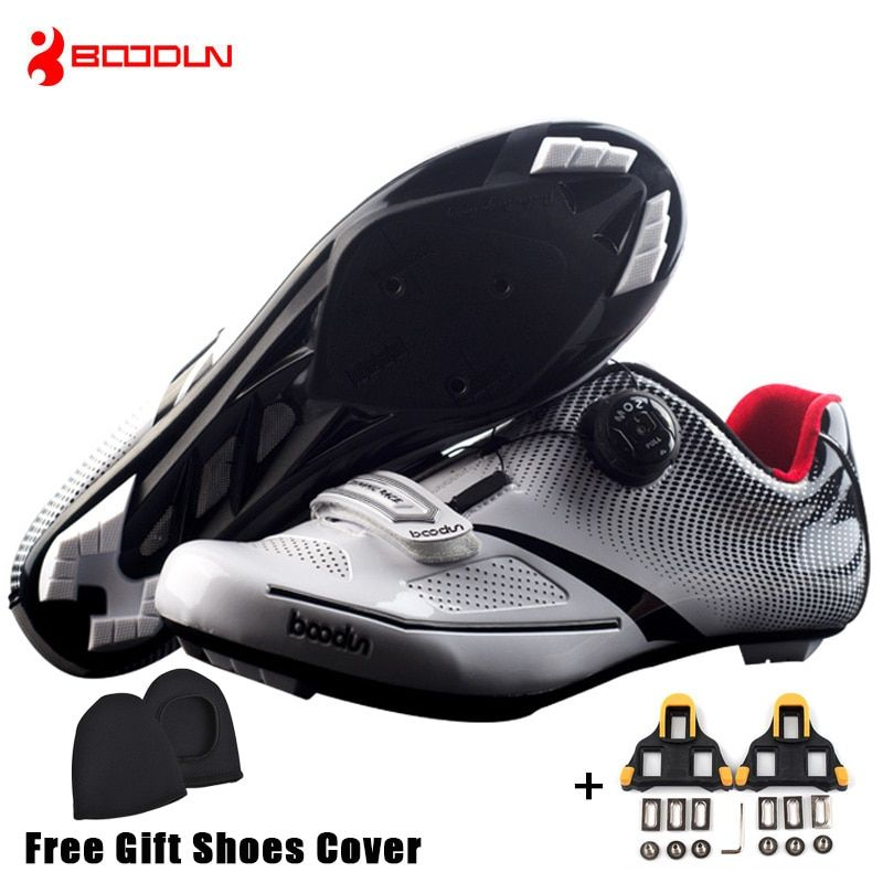 Boodun Breathable Pro Self-Locking Cycling Shoes Road Bike Bicycle Shoes Ultralight Athletic Racing <font><b>Sneakers</b></font> Zapatos Ciclismo