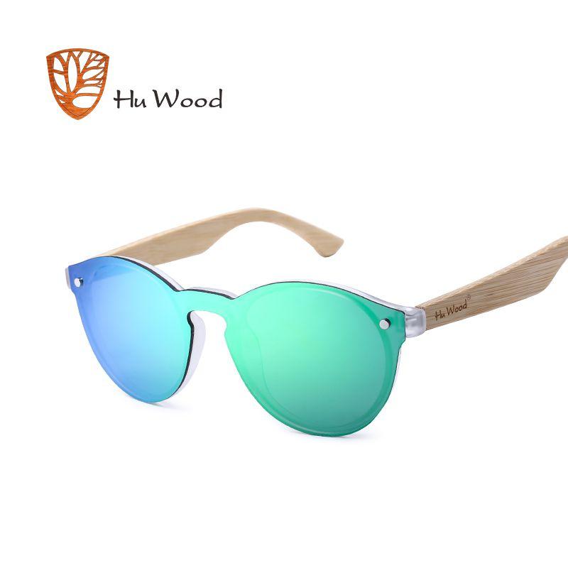 HU BOIS Hommes Miroir Lentilles En Bois lunettes de Soleil Multi Couleur femme lunettes de Soleil Pour Unisexe Conduite Lunettes de Soleil Sans Monture GR8013