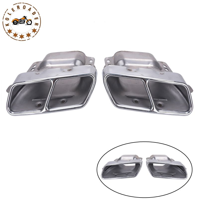 1Pair Car Tail Pipe Exhaust Muffler For Mercedes Benz CL320 CL450 S300 S350 S500 A45 W176 W221 X166 V251 One / Twin Hole 93876